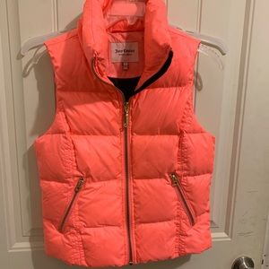Juicy Couture BRIGHT PINK Puffer Vest Women's SML